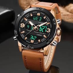 Relógio Lige analógico e digital importado e original