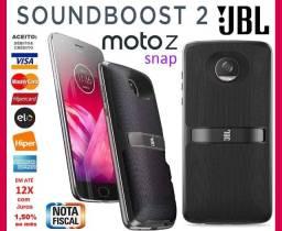 Snap Moto Z Soundboost 2 JBL c/ Bateria Interna, A Prova D' Água, Novíssimo, Garantia