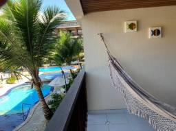 Belissimo flat 2 qts , frente piscina no paradisíaco resort NANNAI,à beira mar da praia de