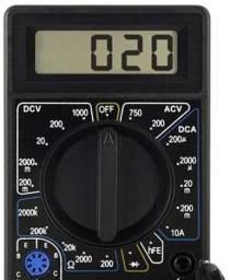 Multilaser Voltímetro Multímetro Digital Corrente Ac + Dc Tensão 200M~1000V
