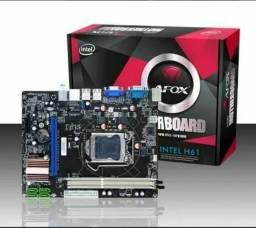 Placa mãe LGA 1155, AFOX, Para Intel de 2a e 3a Geração, Slot ddr3, Novo, lacrado