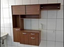 Armário para cozinha simples com balcão toda marrom barata