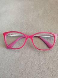 Armação / óculos Ray-Ban Original RB 1565L 3696 49 Infantil Acetato Rosa Pink Brilho