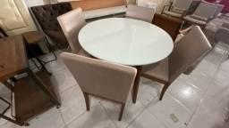 Mesa nova redonda menor completa