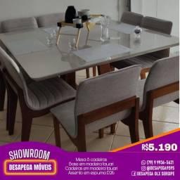 Conj Novos Mesas e Cadeiras Luxo Desapega