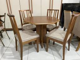 Promoção de Agosto - Mesa de Jantar Toquio -Com 4 cadeiras