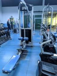Lote de equipamentos de musculação