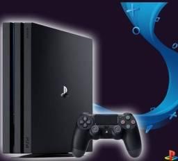 Playstation 4 pro com jogos lacrados.