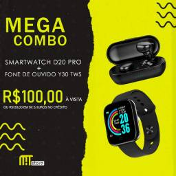 Mega Combo!! Smartwatch + Fone de Ouvido