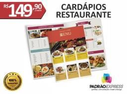 Fábrica de Cardápio personalizado para lanchonete e restaurante.