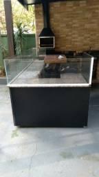 Balcão com vidro em mdf