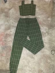 conjunto cropt e calça