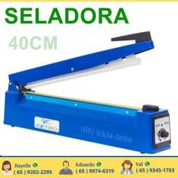 Seladora manual para pasticos 40cm com regulagem de temperatura