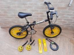 Bicicleta aro 16 dino T&B usada com rodinhas