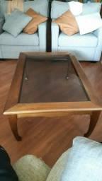 Vendo conjunto de mesa centro e 2 mesas de canto mogno
