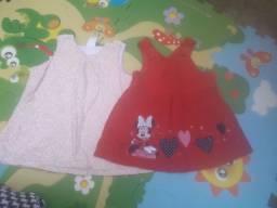 Vestido de bebê tamanho P