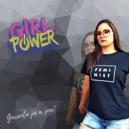 T-Shirt (Camiseta) Feminina 100% Algodão Fio 30.