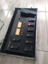 Pedaleira Boss Gt 100 Com Case E Fonte Gt100