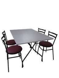 Título do anúncio: mesas e cadeiras ideal para cozinha,refeitorio,pizzzaria.hamburgueria-lanchonete