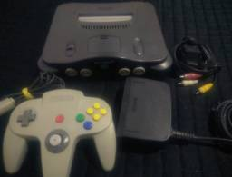 V/T Nintendo 64 + Controle Original + Fonte + Cabo Av + Jumper Pak