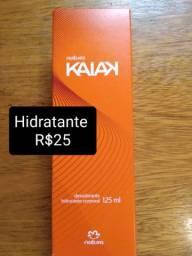 Hidratantes Kaiak (25 reais) ou Noz Peca e Cacau (40 reais)
