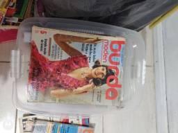 Lote 7 revistas Burda reliquia partir de 1974 moda e culinária.