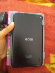 Tablet com carregador e capinha .