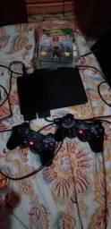 Play 2 destravado zero com dois controles originais mais jogos