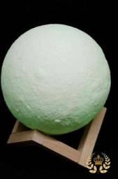 Luminária Lua Cheia 3D Troca de Cor ??: