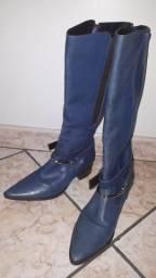 Bota Parô azul Nº36 em couro legitimo