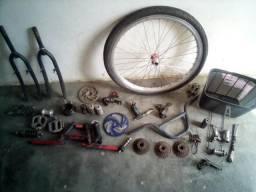 Varias peças para bicicleta