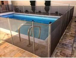 Grade de proteção para piscina