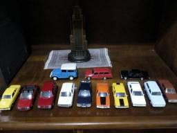 Miniaturas carros nacionais de metal