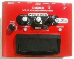 Pedal Boss Ve2 Vocal Efeitos Voz Harmonist + Fonte + Caixa Original
