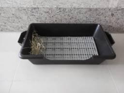 Banheiro artesanal para coelhos