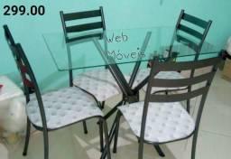 """Conjunto de mesa com 4 cadeiras """" ENTREGA HOJE OU EM ATÉ 24 HORAS - ZAP"""