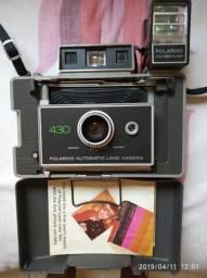 d18d3c1122 Câmera Fotográfica Vintage Polaroid 430 automática excelente estado com  manual e garantia