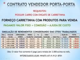 Vendedor Porta a Porta - Comissão+Fixo+Ajuda de Custo