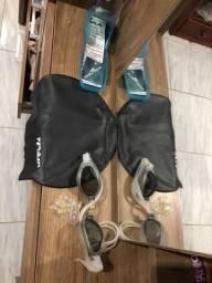 Toca e óculos de natação