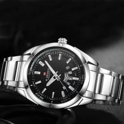 Relógio prata marca Naviforce importado e original