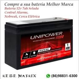 Bateria 12v 7ah Selada Central Alarme Nobreak Cerca Elétrica, Moto