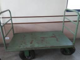 Carrinho de carga plataforma com rodas