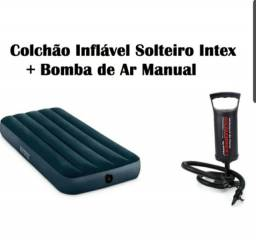 Colchao inflavel Intex e colchonete de Camping