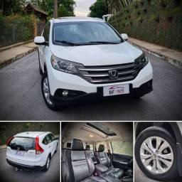 Imperdível!! Linda Honda CRV EXL 4WD 2012, branca, teto solar