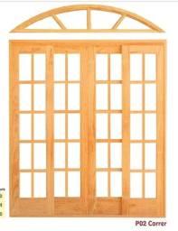 Portas e Janelas de Madeira Modelo toda vidro