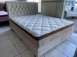cama box queen size + cabeceira - entrego
