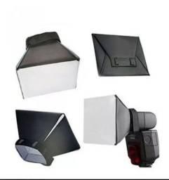Mini softbox para flash Canon Nikon