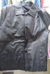 Jaqueta de couro feminina Tam. GG