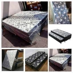 Cama Box casal/Box solteiro/bicama/colchão/base de box/colchão
