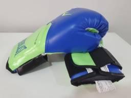 Luva de Boxe Everlast 12 Oz + Bandagem + Protetor Bucal